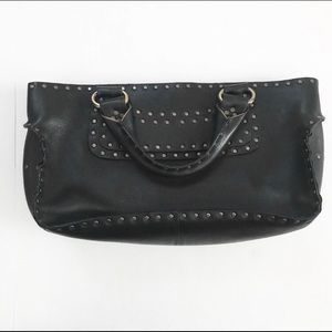 ** Celine ** black leather studded Boogie bag